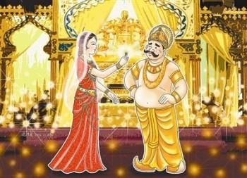 從前印度有個波斯匿王,有一天在吃飯的時候,他對皇后說:「妳現在身為一國之母,受到千萬民眾的愛戴與尊重,完全因為我是國王。假如沒有我,妳頭上戴的珠冠、身上披的瓔珞衣裳,以及所擁有的一切都會失去呀!」圖/道璞