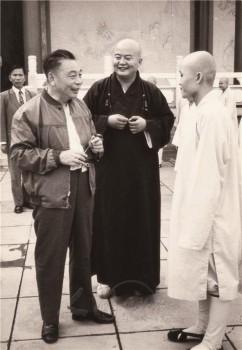 蔣經國先生曾四度來佛光山參訪。 圖/佛光山寺提供