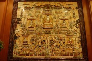 佛光山玉佛殿西方極樂世界圖。 人間社記者如輝攝