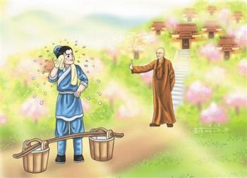 星雲說喻 翰林挑水 圖/道璞