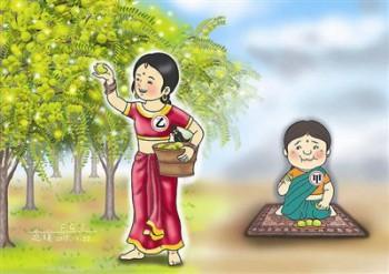 佛經裡有一則譬喻故事,在印度有兩個婦人,同時得到一種名叫「菴摩羅果」的水果。甲婦人一得到菴摩羅果,便連果帶子統統吃下肚了。乙婦人卻只吃果肉,而把子留下來,繼續栽植培養。圖/道璞