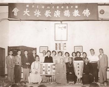 全台灣第一支佛教青年歌詠隊。 圖/法堂書記室提供