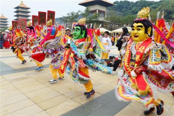 在佛館舉辦神明朝山聯誼會盛況。 圖/人間通訊社提供