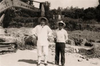 蕭頂順居士與大師。 圖/佛光山寺提供
