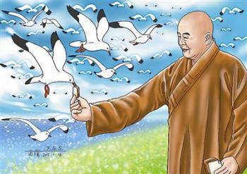 佛光山在澳洲雪梨臥龍崗建了一座南天寺,有一段時期,我經常到當地關心信眾。在距離寺院不遠的地方有一片大海,一次,偶然經過海邊,看到有人在餵海鷗,成群的海鷗一時間蜂擁而至。圖/道璞
