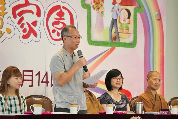 九龍灣分會招家驊會長講出大師不忍心佛教受牽連而作出回應