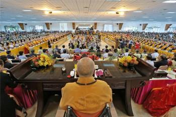 佛光山供僧法會過堂一景。 圖/佛光山寺提供