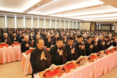大殿一角,連同齋堂逾1,200多名信眾參加2016年度首次大悲懺法會/黃偉強拍攝