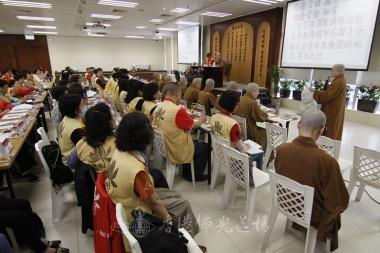 覺梵法師提議宣傳浴佛花車巡境方案。