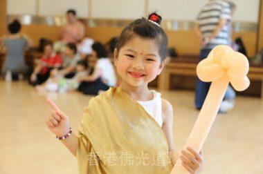 參賽小朋友鍾泇柔造型可愛。(人間社記者美寬拍攝)