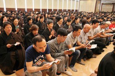 逾800名信眾參加地藏法會,永念親恩。(人間社記者黃偉強拍攝)