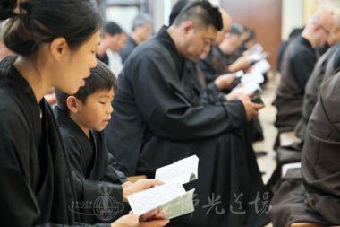 參加地藏法會的信眾,由八歲到八十歲不等。(人間社記者黃偉強拍攝)