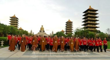 香港佛光道場住持永富法師率眾參訪佛陀紀念館。(人間社記者張祖華拍攝)