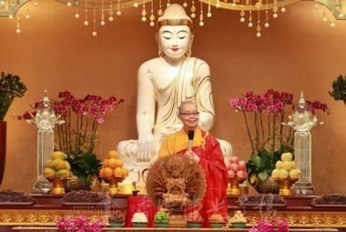 覺毓法師:「無論何時何地都不能離開菩提心」。(人間社記者黃偉強拍攝)