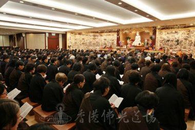 超過400信眾參與三時繫念佛事。(人間社記者黃偉強拍攝)