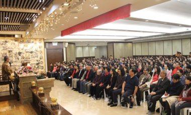 逾400人出席佛學講座「我所看到的師父」。 (人間社記者葉偉炳拍攝)
