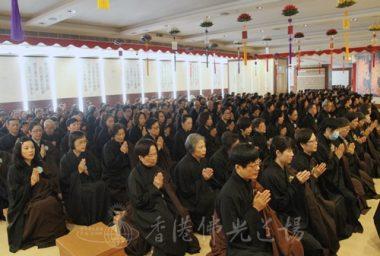 彌陀佛七第六天逾700人在安逸的環境下念佛。(人間社記者葉偉炳拍攝)