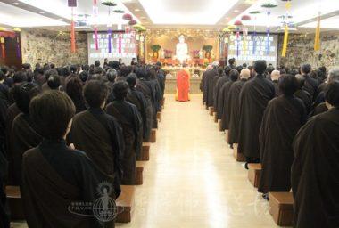 彌陀佛七第六天逾700人参與法會。(人間社記者葉偉炳拍攝)